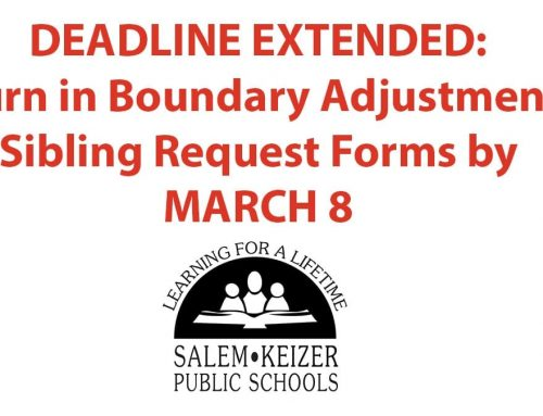 Deadline Extended – Turn in Boundary Adjustment Sibling Forms by March 8